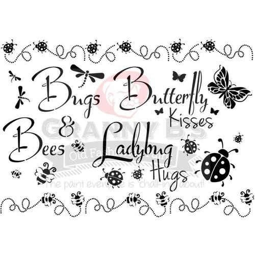 Bugs & Bees Stencil - Granny B's Old Fashioned Paint