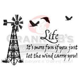 Windmill Life Stencil - Granny B's Old Fashioned Paint
