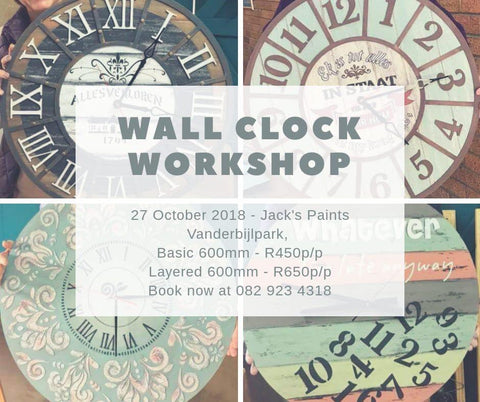 Paint Class - Large Wall Clock - Vanderbijlpark - Granny B's Old Fashioned Paint