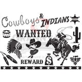 Cowboys & Indians Stencil - Granny B's Old Fashioned Paint