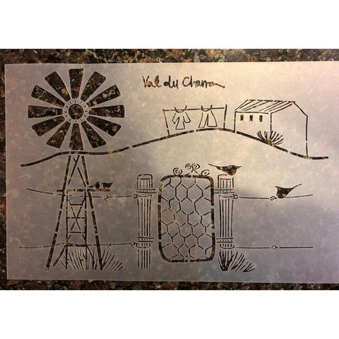 Val du Charron Stencil - On the Farm - Granny B's Old Fashioned Paint