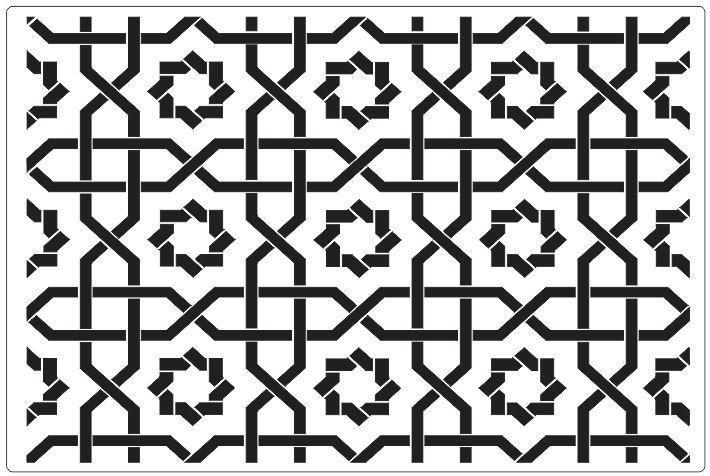 Geometric Floor Stencil - Granny B's Old Fashioned Paint