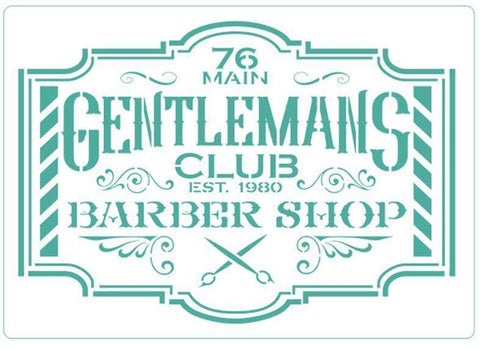Barber Shop -Stencil - Granny B's Old Fashioned Paint