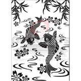 Koi Fish Stencil - Granny B's Old Fashioned Paint