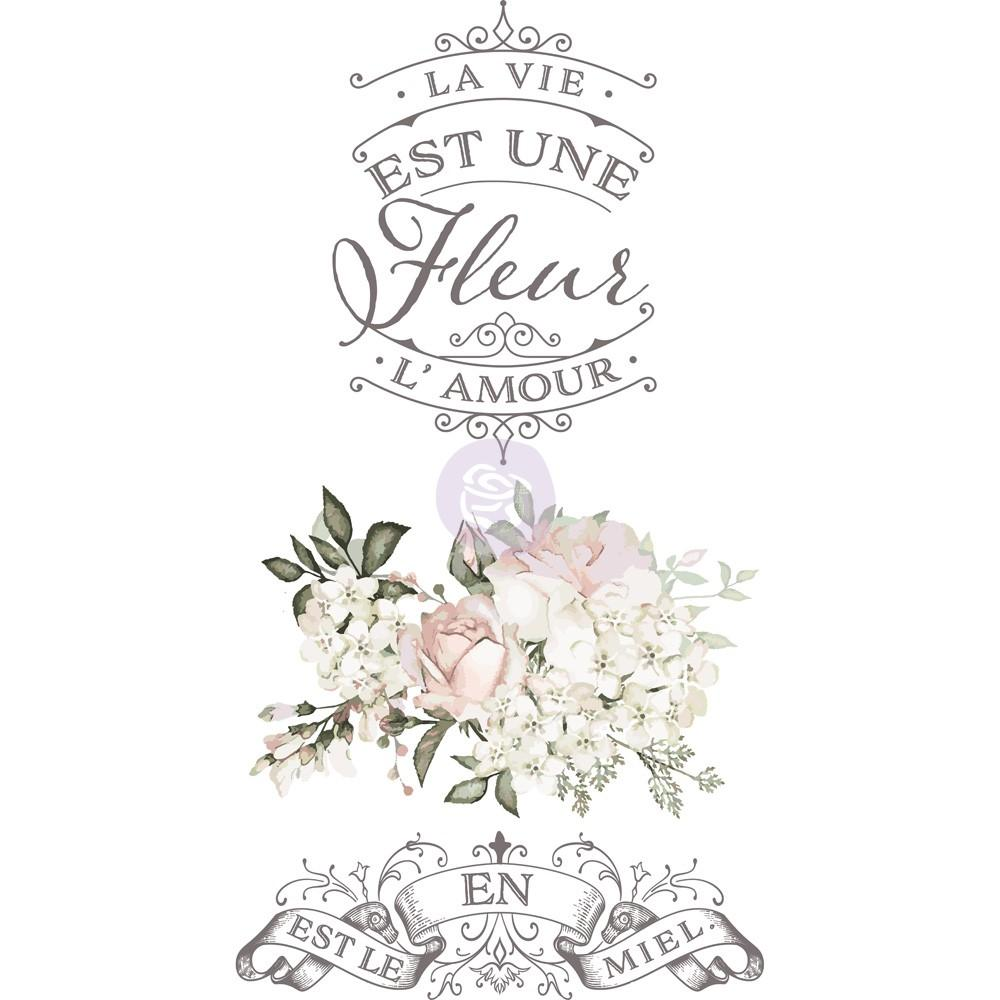 La Vie Est Une Fleur  - Transfer (Prima Re-design) - Granny B's Old Fashioned Paint