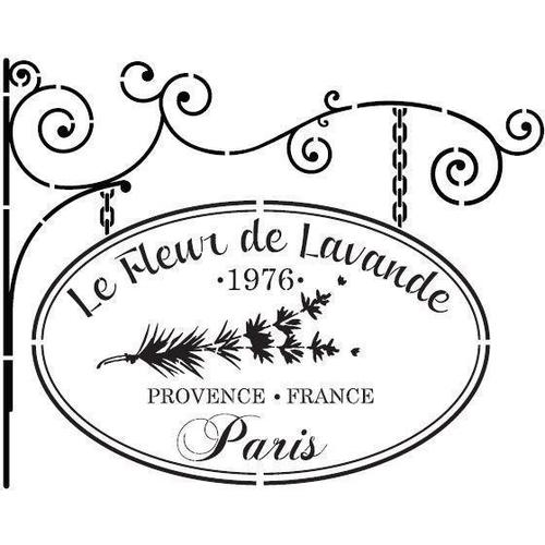 Le Fleur Paris Stencil - Granny B's Old Fashioned Paint