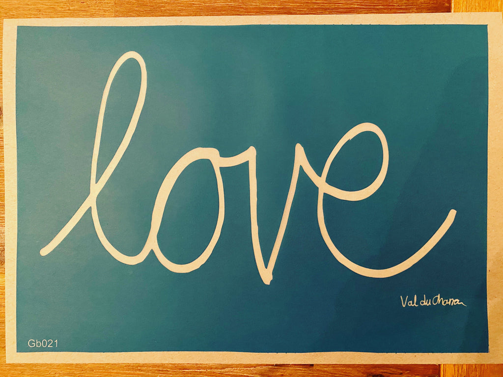 Love - Silkscreen Stencil by Val du Charron - Granny B's Old Fashioned Paint