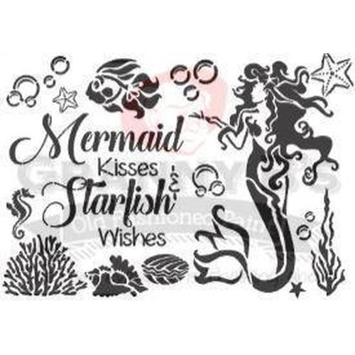 Mermaid Stencil - Granny B's Old Fashioned Paint
