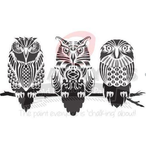 Owls - Granny B's Old Fashioned Paint