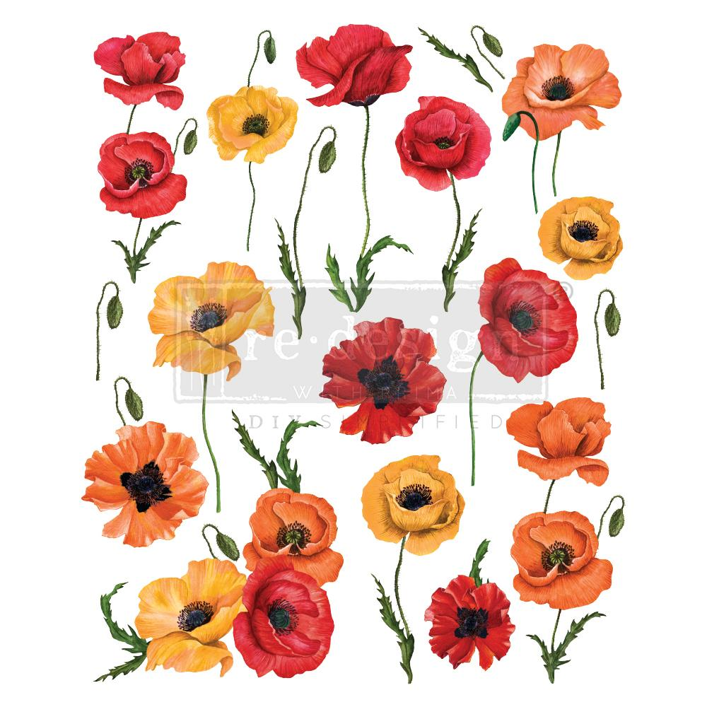 Poppy Gardens  - Transfer (Prima Re-design) - Granny B's Old Fashioned Paint