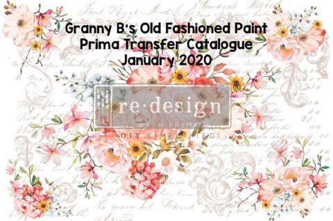 Prima Transfer - FREE Catalogue Download - Jan 2020 - Granny B's Old Fashioned Paint