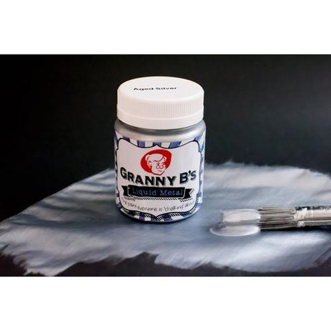 Liquid Metal Aged Silver 125ml - Granny B's Old Fashioned Paint