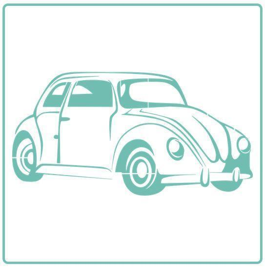 VW Bug - Stencil - Granny B's Old Fashioned Paint
