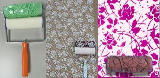 Pattern Roller Set 'Rambling Rose' - including 1x pattern roller - Granny B's Old Fashioned Paint