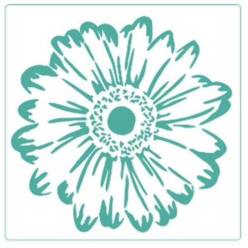 Gerbera Floral- Stencil - Granny B's Old Fashioned Paint
