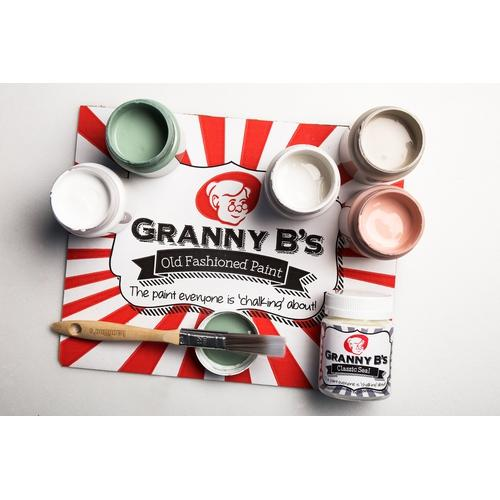 Vintage Colours Starter Kit (6x 125ml Jars and FREE Brush) - Granny B's Old Fashioned Paint