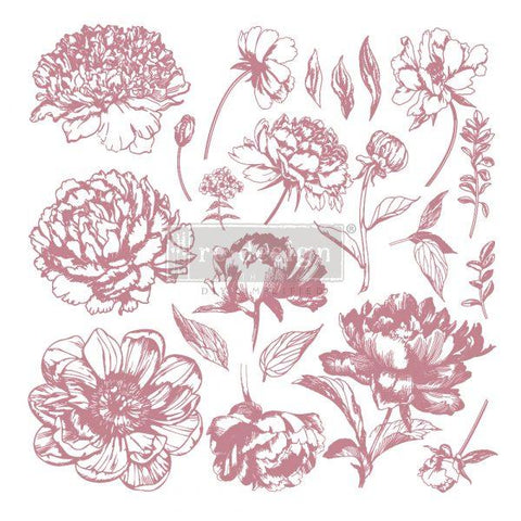 Clearly Aligned Decor Stamp - Linear Floral