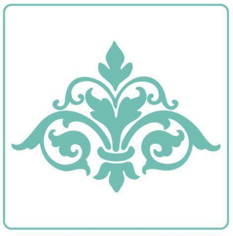 Damask Flourish Element Stencil - Granny B's Old Fashioned Paint