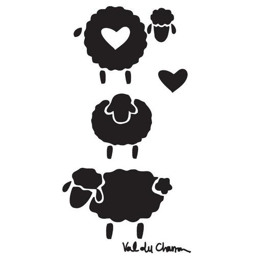 Val du Charron Stencil - Sheep - Granny B's Old Fashioned Paint