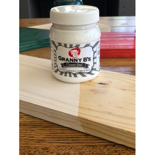 Classic Seal Woodstain - White Wash 400ml - Granny B's Old Fashioned Paint