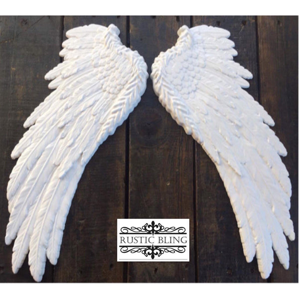 Ceramic Angel Wings by Rustic Bling - Medium - Granny B's Old Fashioned Paint