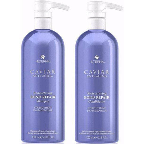 Alterna Caviar Anti-Aging Restructuring Bond Repair Shampoo and Conditioner 33.8 Oz/Liter Duo