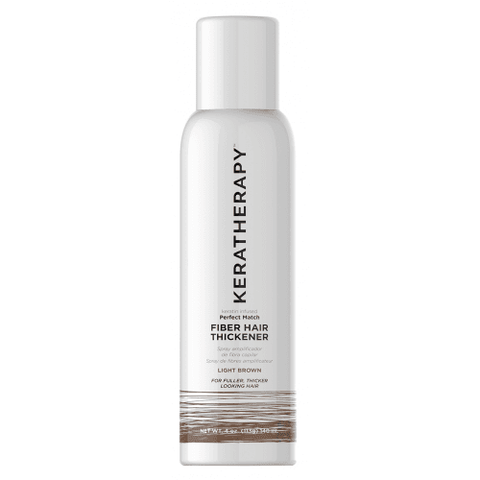 Keratherapy Perfect Match Fiber Hair Thickener - Light Brown 4oz