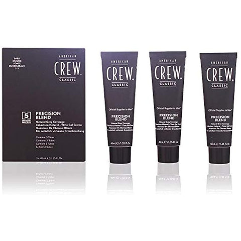 American Crew Precision Blend Hair Dye, Dark, 1.35 Oz, 3 Ct