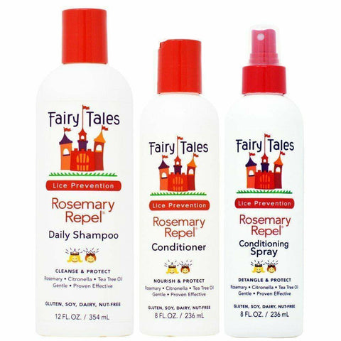 Fairy Tales Rosemary Repel Daily Shampoo 12oz + Conditioner 8oz + Spray 8oz