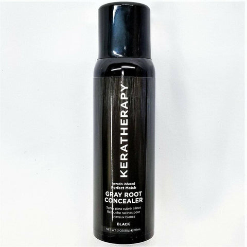 Keratherapy Perfect Match Gray Root Concealer - Black 3 oz