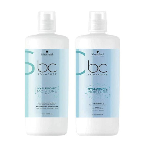 Image of Schwarzkopf Bonacure Moisture Kick Shampoo & Conditioner Liter Duo 3.8 oz