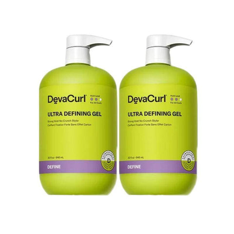 Devacurl Ultra Defining Gel Strong Hold No-Crunch Styler, 1L/32 oz (Pack of 2)