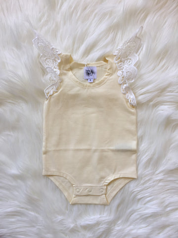 Angel Wings Lemon Singlet Onesie