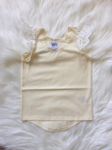 Angel Wings Lemon Scoop Back Singlet