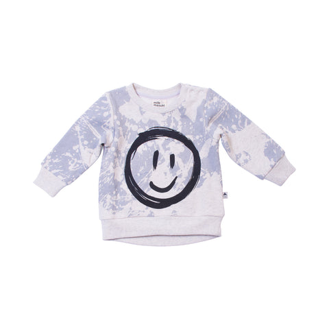 Splatter Smiley Face Crew Neck Jumper