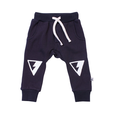 Black Knee Symbol Trackies