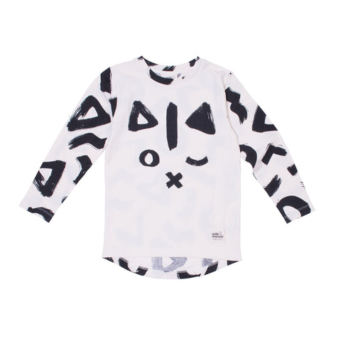 Geo Cat Long Sleeve Tee