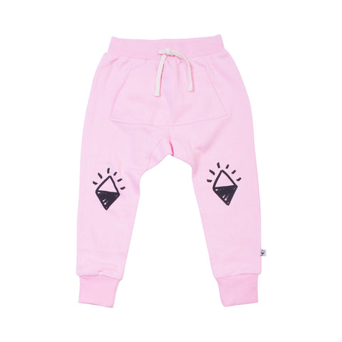 Pink Diamond Knees Trackies with Joey Pocket