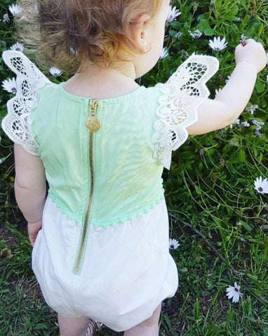 Angel Wings Mint Playsuit