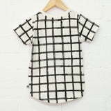 Grid Face Short Sleeve Tee