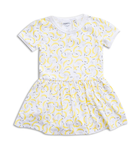 Banana Short Sleeve Dress