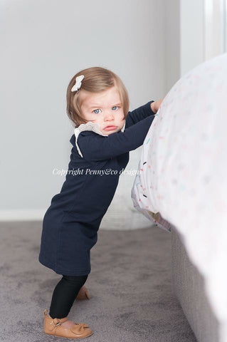 Angel Wings - Navy Jumper Dress