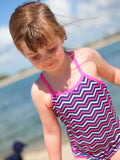 Chevvy Pink Kids One-Piece Bathers