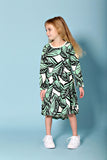 Jungle Fern Long Sleeve Dress