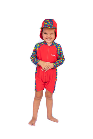 Jurassic Jive Long Sleeve Swimsuit & Hat Set