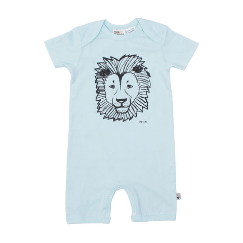 Lion Short Sleeve Button All