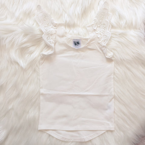 Angel Wings - Snow Angel Scoop Back Singlet