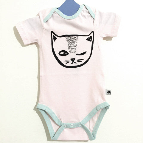 Cheeky Cat Short Sleeve Jumpsuit