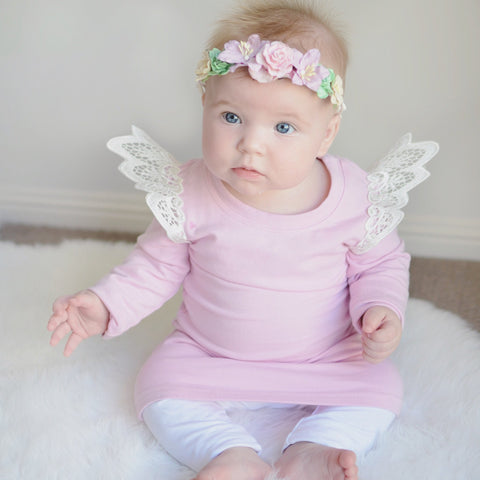 Angel Wings - Blush Jumper Dress