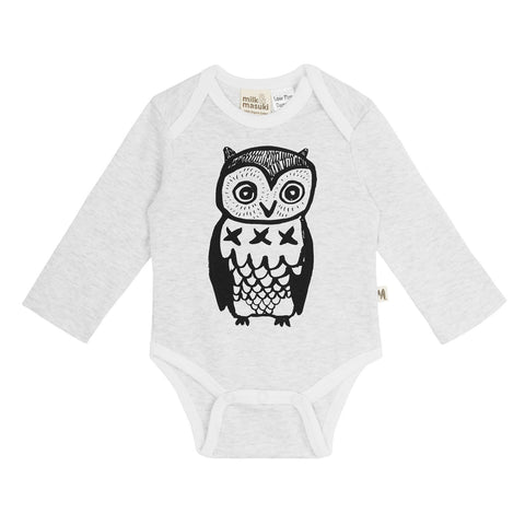 Owl Long Sleeve Onesie